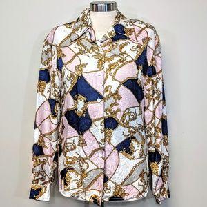 Silk Chain Print Blouse